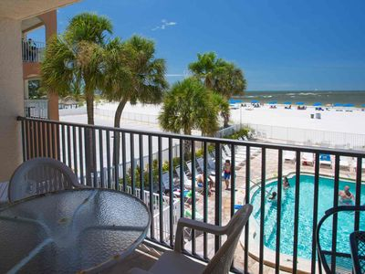Photo for Beachfront Condo Direct Across from Johns Pass Village.  Excellent Location!