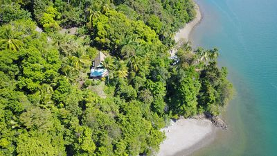 Photo for Isolated tropical paradise on the Pacific coast, surrounded by rainforest