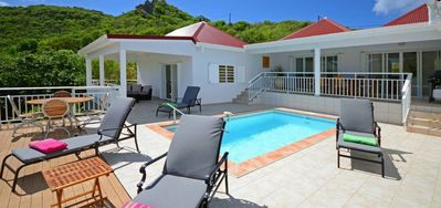 Photo for Villa Bonjour  -  Ocean View - Located in  Exquisite Saint Jean with Private Pool