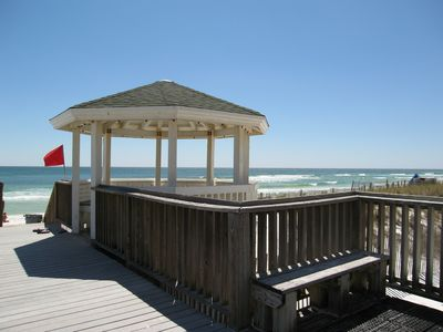Beachfront gazebo with shower