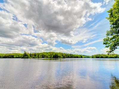 Photo for NEW LISTING! Lakefront mobile home near dock w/ grill, picnic area & great view