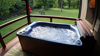 Photo for Panther Creek Road Cabin with Relaxing Hot Tub