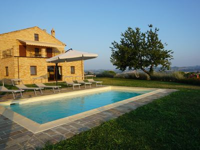 Photo for Magnificent holiday villa with pool & gorgeous 180 ° views. Perfect for families.