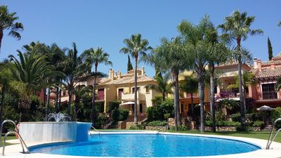 Photo for Charming house with shaded terrace near the beach Nagueles in Marbella