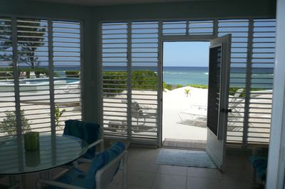 Immediate access to deck, pool & white sand beach
