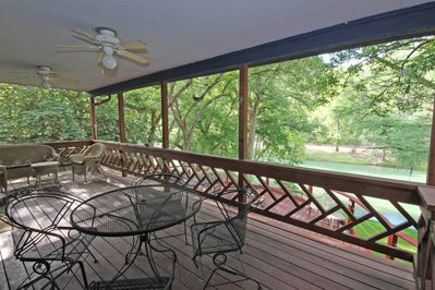 Covered Deck Area - Enjoy the Shade and the View!