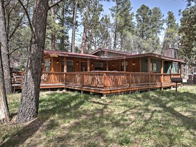 Photo for Riverfront Ruidoso Home w/ Hot Tub - Walk to Town!