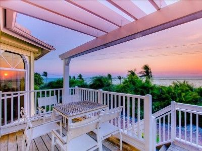 Watch the sunsets or look for wildlife from your front lower deck