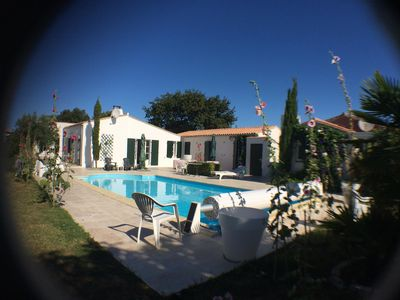 Photo for Family house with large garden and pool near the beaches!