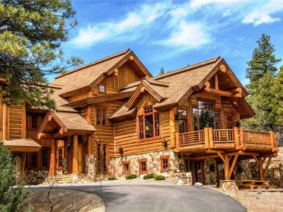 Photo for Looking for Colorado this is it, log home with hot tub, theater, views great location sleeps 10.