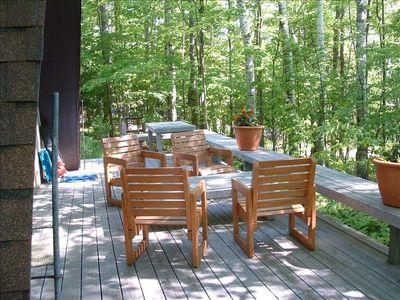 Patio on back deck.