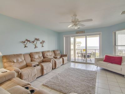 Photo for Second-floor beachfront villa w/shared pool, beach access, and basketball court!
