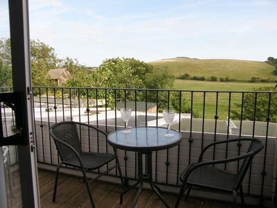 East-facing Balcony. To enjoy a sunny breakfast or shady evening relax. Seats 4