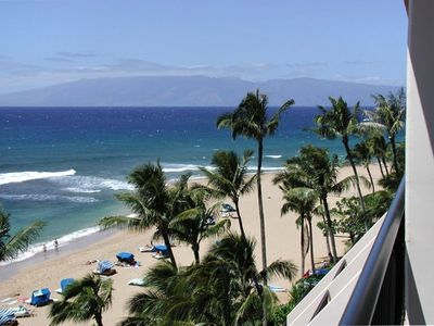 View from Ocean Front suite towards Molokai