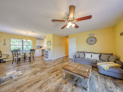 Photo for NEW LISTING! Cozy country home on nine wooded acres w/ a wraparound deck