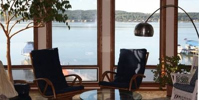 Photo for Spacious Lakefront Townhouse on Beautiful Lake Charlevoix
