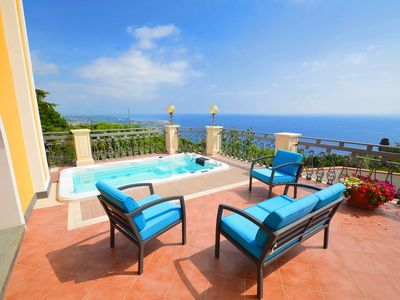 Photo for Villa La Timpa - ancient and majestic villa which enjoys a wonderful view of Mount Etna and the sea