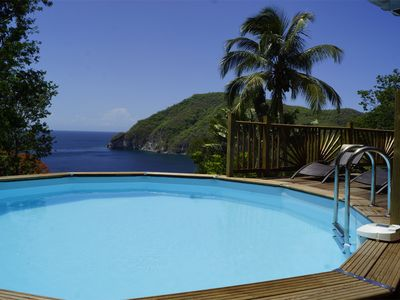 Photo for Villa Palma Deshaies Guadeloupe - Private Pool - Sea view - Battery Point