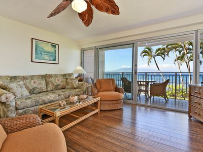 Photo for Seas the day at Lahaina Roads 210 ocean front condo 1bd /1 ba Fantastic views