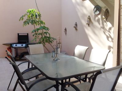 Dining area with BBQ