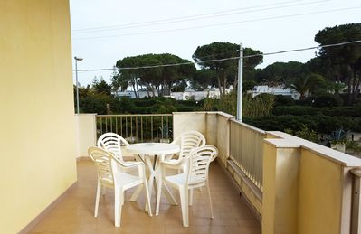 Photo for Large apartment a few steps from the sea and the nature reserve.