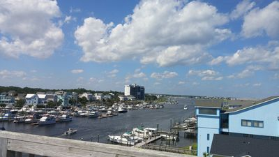 Photo for ON THE WATER!  Sound side condo with a view of the ocean!