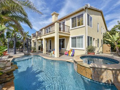 Photo for NEW LISTING! Luxurious house w/private hot tub & pool -short drive to beach