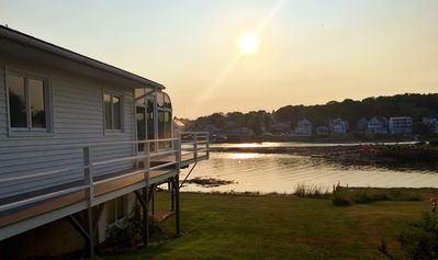 Photo for Waterfront Home with Dock, Walk to Town, Boothbay Harbor