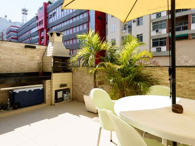 Photo for Ipanema apartment with Large Balcony and BBQ