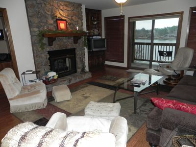 Photo for Spacious  Lakefront 3 Bedroom, Deck View,10 Min to OAKLAWN, Pool, Wifi, Boatslip
