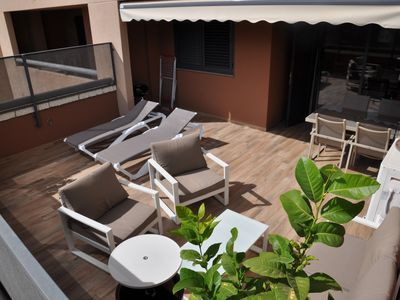 Photo for Spacious 2 bedroom apartment, large terrace, sea view, Paraiso II complex