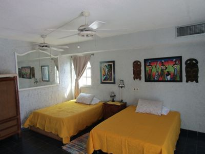 Photo for Cozumel: Casa Caribe Master Bedroom Suite Overlooking the Pool and Grounds