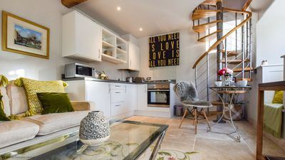 The Bothy's open plan living area and kitchenette