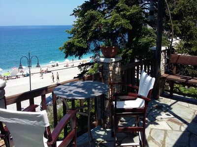 Photo for My Argo Balcony is a beachfront apartment in b... - One Bedroom Cottage, Sleeps 4
