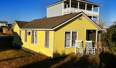 Photo for This Classic Beach Front Cottage is one of the best values on the Ocean Front on Holden Beach's East End.
