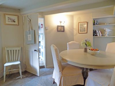Spacious dining room adjacent to the kitchen