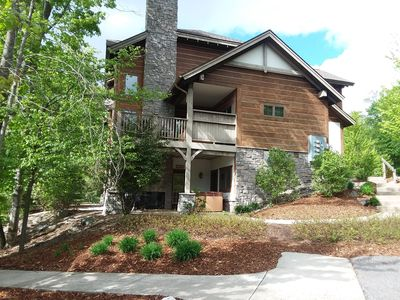 Photo for Beautiful Creekside Condo with a Private Hot Tub, Ski-in/Ski-Out at Boyne