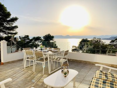 Photo for RENOVATED SEA VIEW APARTMENT, BEACH 50 MT, WIFI, LARGE TERRACE