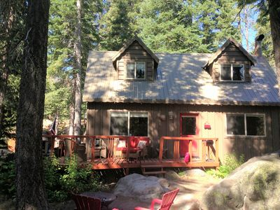 Photo for Charming Creek-side Cabin and Jacuzzi Spa near Donner Lake