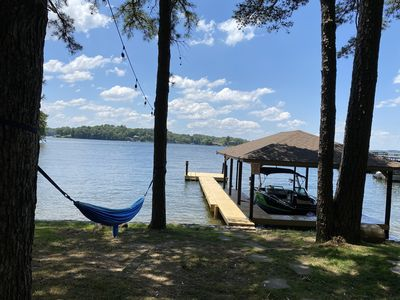 Photo for Lake Front Home with Private Boat dock, Swimming Pier!