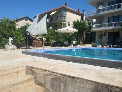 Photo for Two bedroom apartment with balcony and sea view Stari Grad, Hvar (A-583-a)