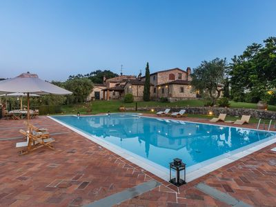 Photo for Stunning private villa with hot tub, WIFI, private pool, A/C, TV, panoramic view and parking