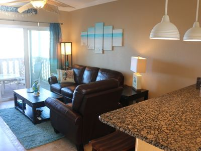 Photo for Comfy and Cozy Beach Condo with Bay Views and white sand beach