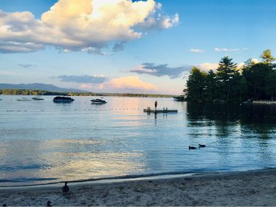 Photo for Charming Lake Winni Access Cape with Sandy Beach, Minutes to Meredith