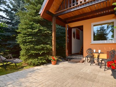 Photo for A quiet cottage in a seaside village. Living room, two bedrooms, a large garden.