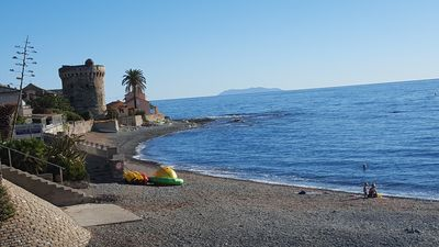 Photo for Mobilhome B1 sea and pool / Camping les Orangers Cap Corse