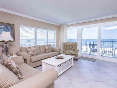 Photo for Three Bedroom Sea Oats Condo with Stunning Views! Free Beach Chair Service! Private Balcony