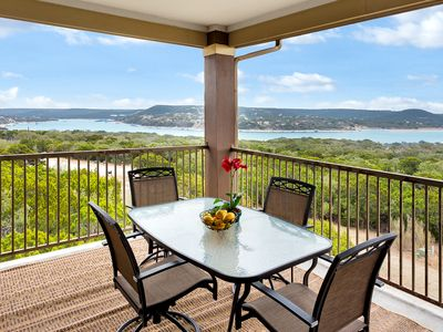 Photo for Beautiful Villa - Fantastic Panoramic View of Lake Travis at Hollows Resort
