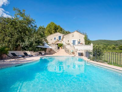 Photo for MAS PROVENCAL amidst VINES VIEW WITH POOL MONT VENTOUX