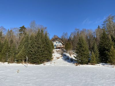 Photo for AMAZING DOMAIN WITH MODERN LOG CABIN ON THE LAKE FRONT